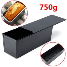Rectangle Nonstick Box Cake Baking Pan New Large Loaf Tin Pastry Bread Bakeware Black Loaf Tin For Kitchen Tools(China)