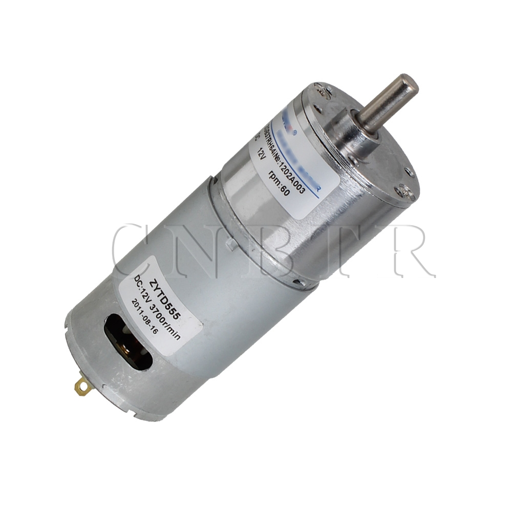 CNBTR  High Torque 12V DC 60 RPM Reversible Gear-Box Electric Motor Replacement  <br><br>Aliexpress