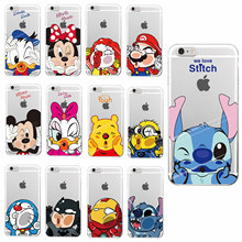 Minnie Mickey  McDonald Batman Marioo Doraemon  Stitch Marvel Cartoon Case For iPhone 4S 5 5S SE 6plus 6 6S 7 7plus SAMSUNG