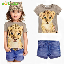 2016 Summer Clothing Sets Baby Girl's Brand Clothing Sets Children's suit sets Kid Apparel set T-shirt+Shorts freeshipping