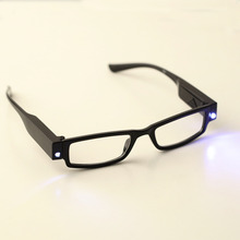 New Practical LED Reading Eyeglasses Simple and Stylish Spectacle Diopter 1-3.5 Magnifier Unique Light Up