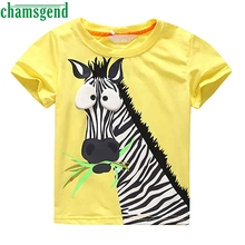 CHAMSGEND Best seller drop ship Newborn Infant  baby boy clothes SHORT sleeve paint carton zebra baby boy clothes S30