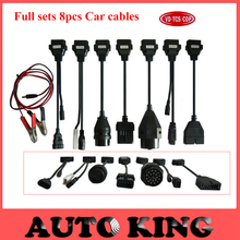 8pcs Car Cables Set for VD tcs CDP pro multidiag pro+ mvdiag wow snooper all serial for Cars OBD2 Connector with Free Shipping