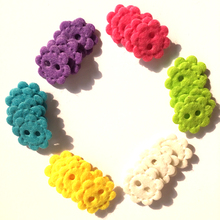 120pcs/lot 1'' Multi-colored felt flowers-embellishments (Novelty buttons style) for scrapbook(China)