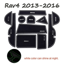For Toyota RAV4 2009 2010 2011 2012 2013 2014 2015 2016 Rubber Dust Mats Gate Slot Pad Non-slip Door Cup Holder Mat Pads