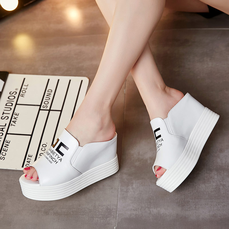 Ladies Summer Shoes Woman Sandals 2017 New Arrival Casual Mujer Zapatos High Heel Slips Chaussure Femme Talon Platform Slippers<br><br>Aliexpress