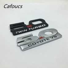 Metal 5.0 Coyote V8 Twin Turbo Trunk Fender Side Badge Emblem Letter Sticker For Ford Mustang GT(China)