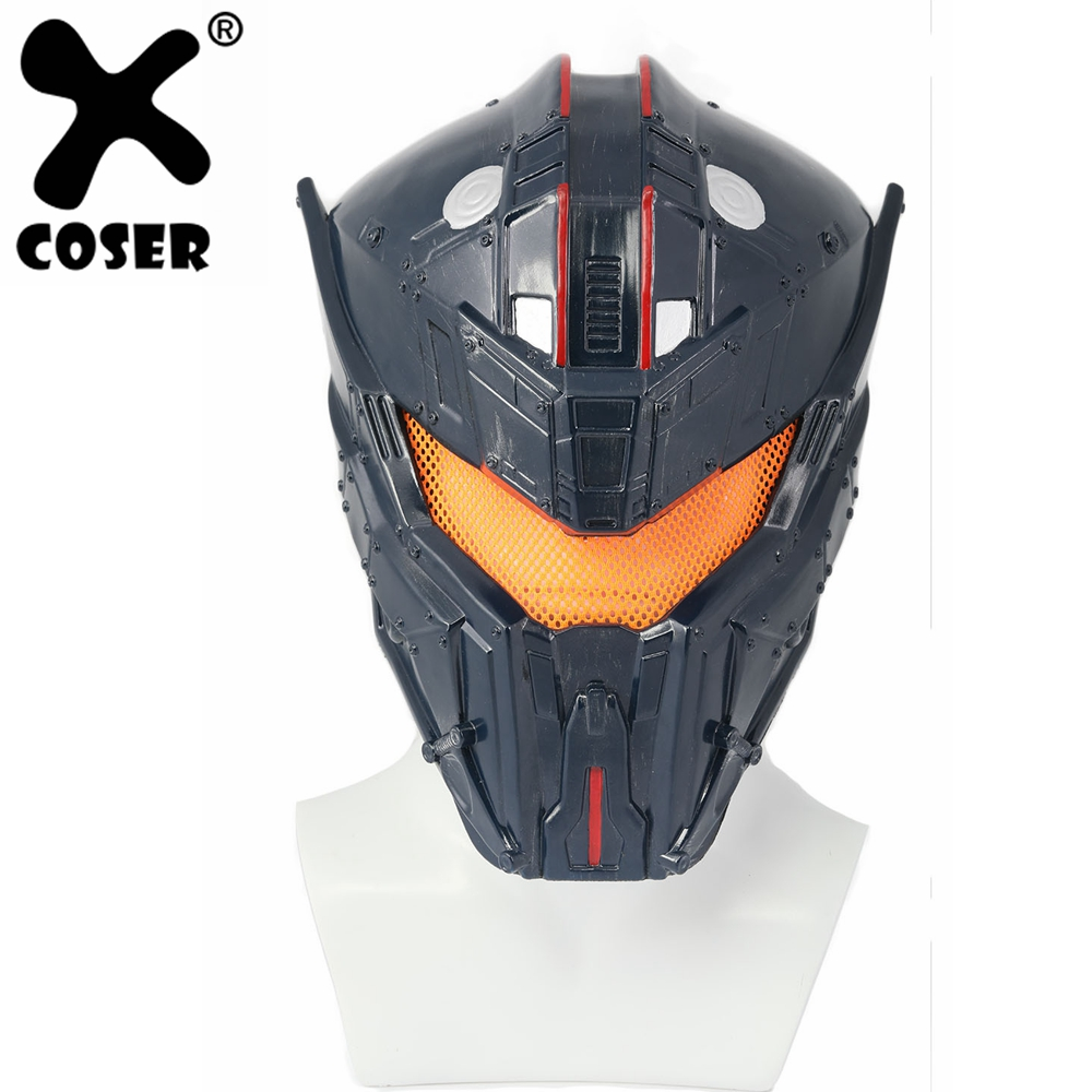 XCOSER Pacific Rim 2 Gipsy Avenger Cosplay Helmet Costume Props Dark Gray Full Head Helmets Halloween Party Cosplay Masks