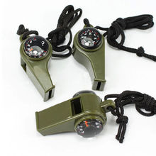 3in1 Whistle Compass Thermometer For Outdoor Emergency Gear Camping Survival Hot Outdoor Sports Goods
