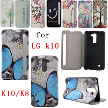 Hot Selling LG k10 Case PU Leather Case for LG K8 with Stand Function for lg k10 K8 mobile phone holster protection(China)
