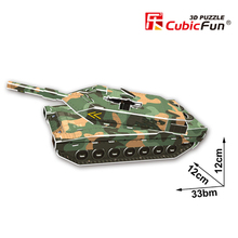 Cubic Fun DIY 3D Paper Puzzle Toy Leopard 2A5 Tank Assembled Model Handmade Military Puzzles Educational Kids Toys Brinquedos