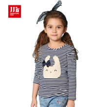 baby girls clothing cartoon girls print long sleeve t shirt children's clothing striped tee shirt 2016 brand kids tops 4-11y