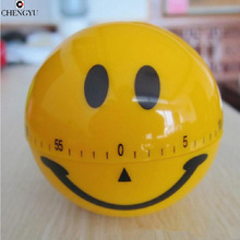 cooking tools alarm clock kitchen timer dial timers Smile creative fashion cute red 60minute Pretty