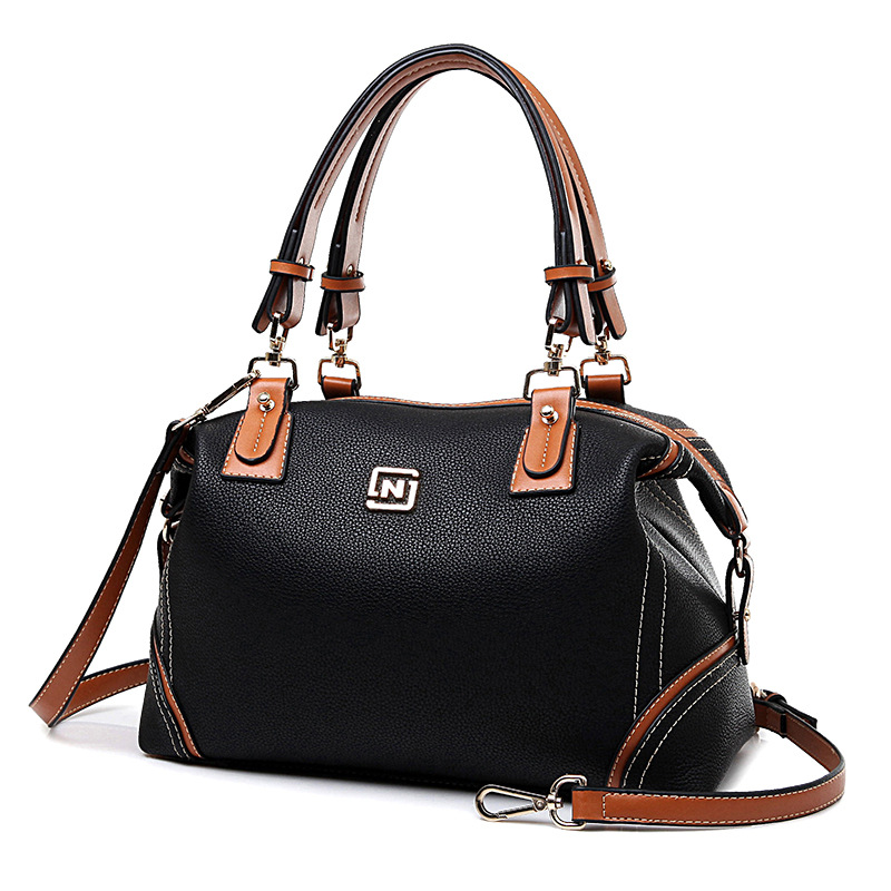 2016 Designer Shoulder Bags High Quality  Womens Handbags Pu Saffiano Leather Bag Luxury Brand Black Casual Tote Solid bolsos<br><br>Aliexpress