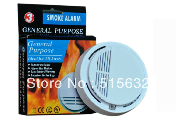 1Pcs x Home Security System, Fire Alarm Cordless Smoke Detector New retail box
