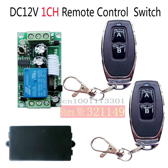 DC 12v  1CH wireless RF Remote Control Switch  waterproof remote  learning button add Transmitte*2r+ Receiver 315MHZ<br><br>Aliexpress