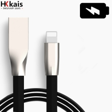 HKkais Zinc Alloy USB Cable For iPhone6 Charging Data Sync USB Charger Cable For iPhone 6 6s 7 Plus 5s 5 iPad mini