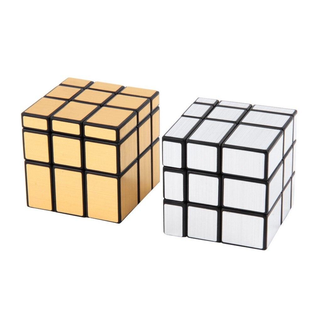 SHENSHOU Zauberw/ürfel 3X3 Geformte Spiegelw/ürfel Super Glatte Puzzle Spiel Rubik Kinder Geschenk,Gold