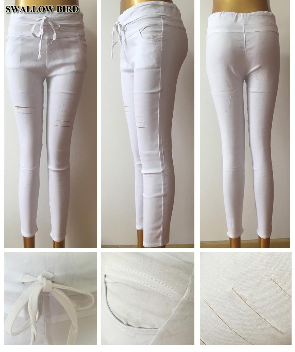 Women's Hollow Solid Cotton Leggings 19