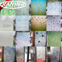 80cm wide*300cm Window paper glass stickers scrub stickers toilet light opaque bathroom cellophane shading windows(China)