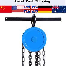 1000kg Pulley Chain Block Chain Hoist Cable Hand Control Pulley Crane 3-6m Manual Block Lift  Pulley Lifting