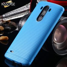 KISSCASE Candy Color Fashion Soft TPU Silicon Case For LG Optimus G3 D830 D850 D831 D855 Slim Honeycomb Dot Cover For LG G3 Case