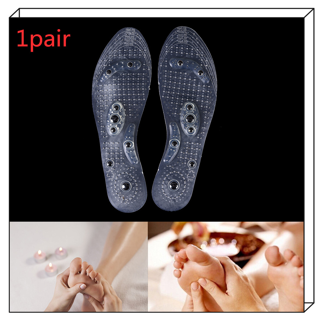 1Pair Magnetic Massage Insoles Breathable Shoes Pad Acupoint Magnetotherapy Pad Inserts Shoes Accessories Useful