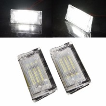 2Pcs 18 LED SMD Error Free License Plate White Light For BMW E46 4D 5D Sedan Car Light Source Drop shipping(China)