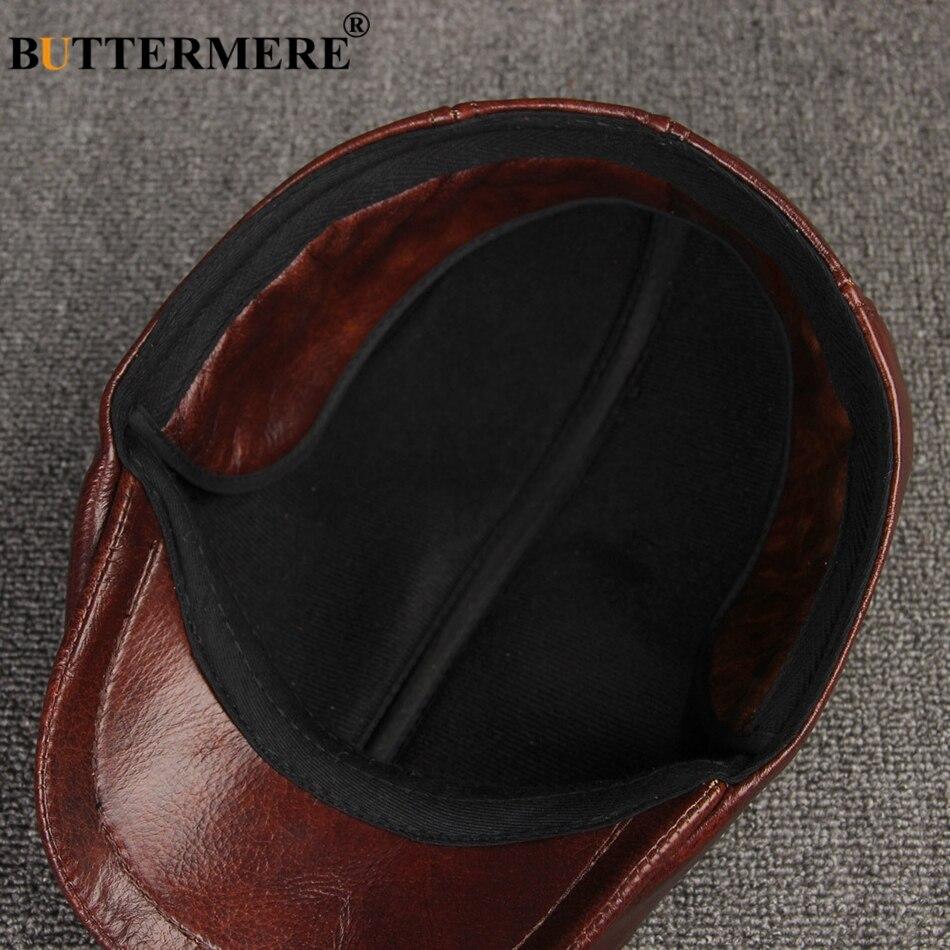 Características  boina británica para hombre gorra plana de cuero  marrón gorras de administración de lujo Gatsby f7e07cdef30