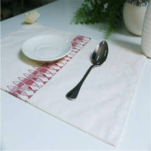 Custom Made Cotton Linen placemats/ placemat Coasters Rectangular Insulation Mat/ Table Mat Doily  Fish Pattern Table Mat