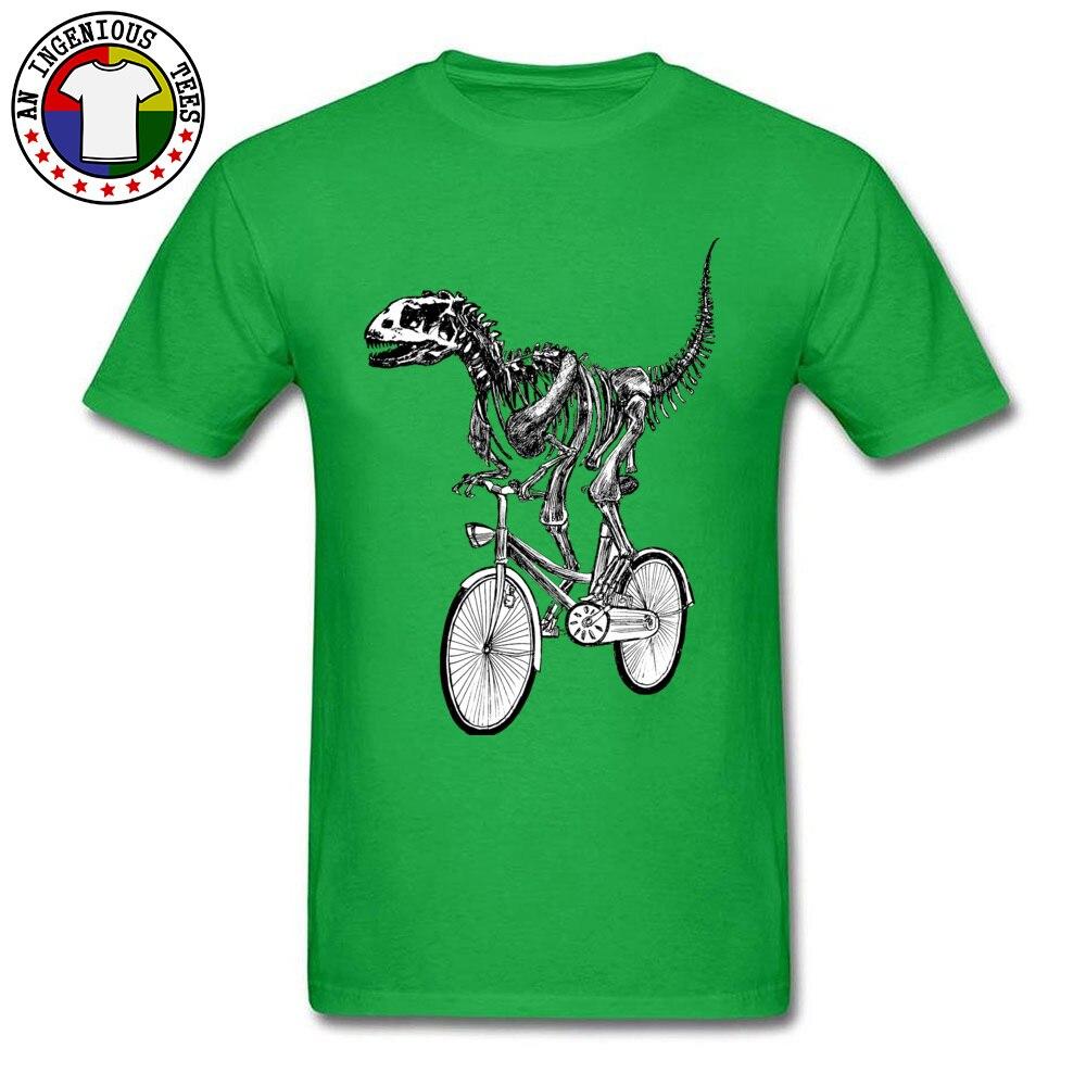 Short Sleeve Tops Shirts O Neck Cotton Men's Top T-shirts Skeleton-Fossil-Bike Normal Tops Shirts 2018 Popular Skeleton-Fossil-Bike green