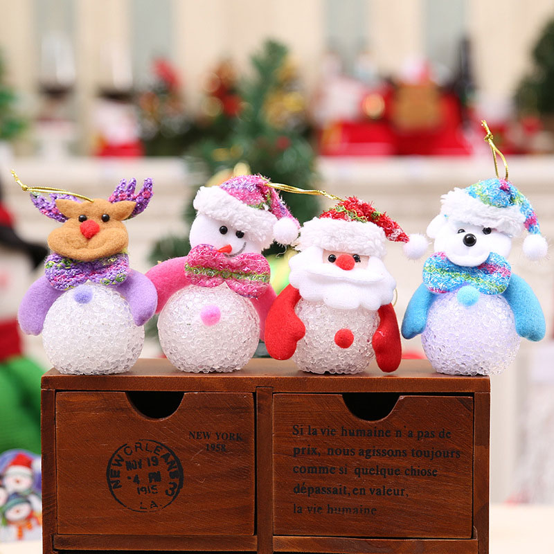 New Year Christmas Decoration for Home accessories Glowing EVA Snowman Nightlight Snowman Christmas Tree gifts Navidad Natal (2)