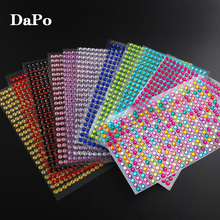 5MM 11 Colors 352pcs/sheet DIY Self Adhesive Gem Rhinestone Stickers For Mobile Phone Shell Computer Home Wall Window Decor
