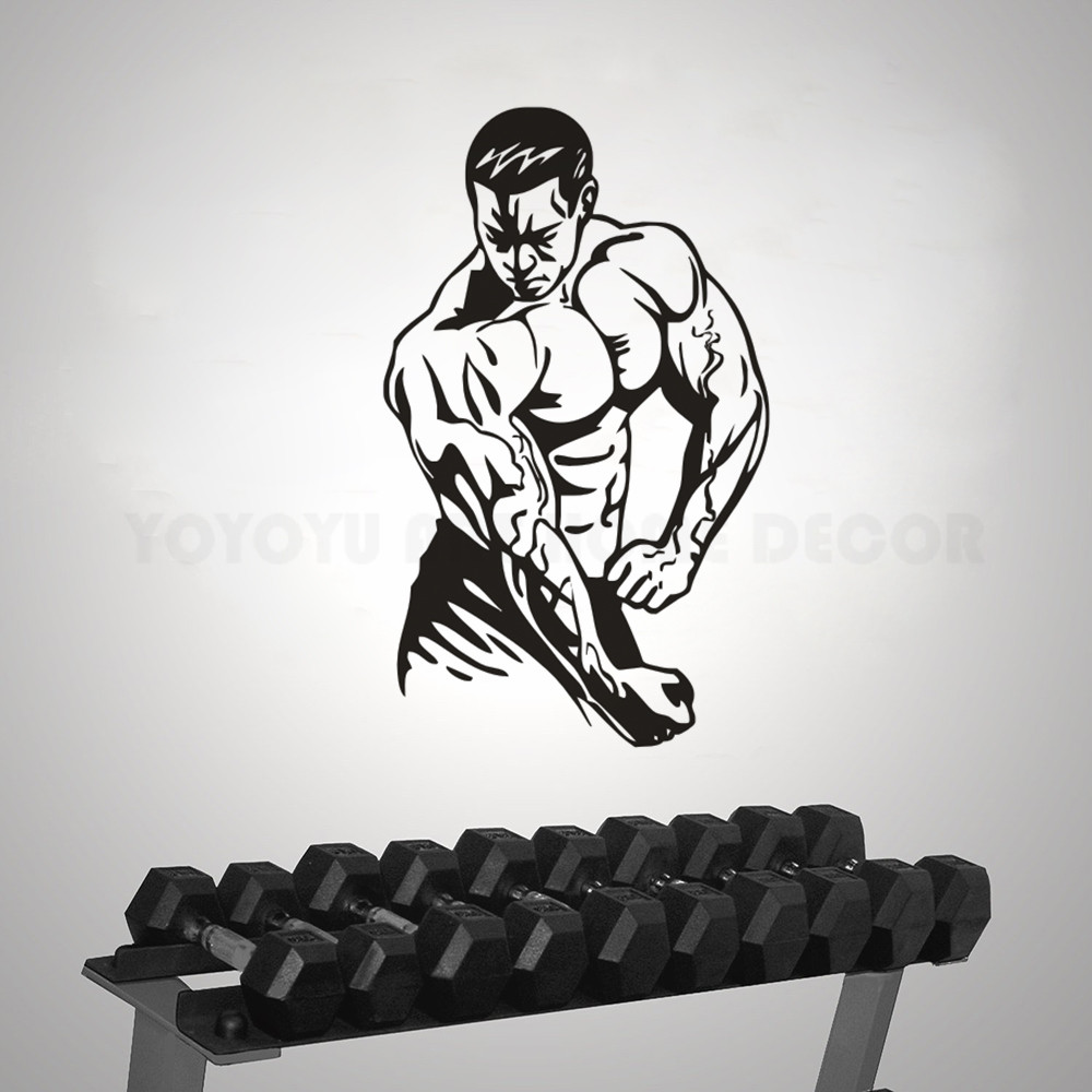 Detail feedback questions about bodybuilding wall sticker gym