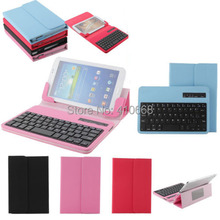 Universal Removable Bluetooth Keyboard PU Case Cover For lenovo A1000 A3000 A3300 A3500 S5000 tablet Cover Case+Pen