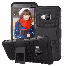 8 Colours Cool Anti-slip Case For HTC One M9 Armor Soft TPU+Hard Plastic Funny With Stand Back Mobile Phone Cover Bag For HTC M9