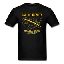 Path of Totality Total Solar Eclipse Men's T-Shirt Mens Shirts Short Sleeve Trend Clothing 2017 New T Shirt Loose Top Tee