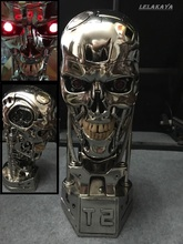 NEW 1:1 T800 T2 Skull Terminator Endoskeleton Lift-Size Bust Figure Resin Replica LED EYE Best Quality Wholesale/Retail