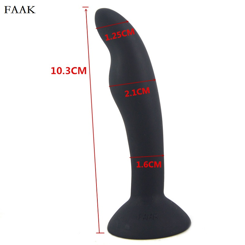 FAAK Sex Shop Adult Products Silicone Anal Plug Black Color Gay Butt Plug Soft Touch Sex Toys For Men and Woman 10.3*2.1cm 34g(China (Mainland))