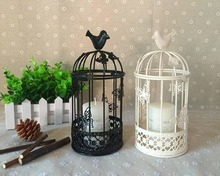 butterfly birdcage candlesticks European metal candleholder forbars free shipping