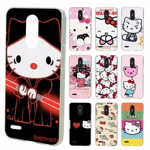 lovely Hello Kitty design transparent clear hard case cover for LG G3 G4 G5 G6 K4 K5 K8 K10 V10 V20 K10 2017