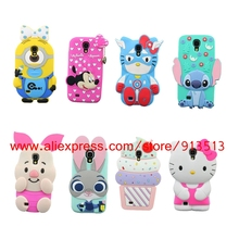 For Samsung Galaxy S4 Case Batman Hello Kitty Pig Minnie Minions Stitch Cupcakes Sulley Unicorn Cases Cover For Samsung S4 i9500