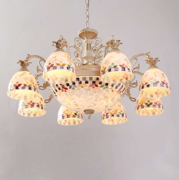 European style Tiffany Chandelier Pendant Lamps Dining Room for home Indoor Lighting Fixture<br>