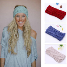 M MISM High Quality Knitting Crochet Turban Headband Fashion Solid Wide Hairbands Headwear Women Winter Warmer Hair Accessories(China)
