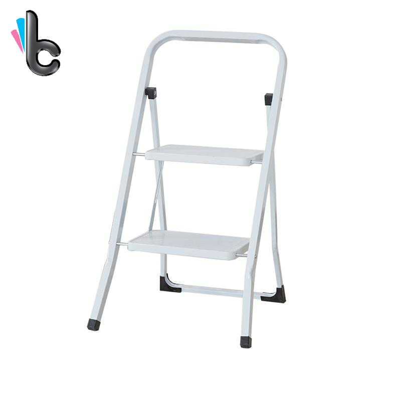 Folding Step Ladder Portable Outdoor Supplies Two Layers Design Home Multifunctional Ladder With Hand Grip Stable Safety<br>