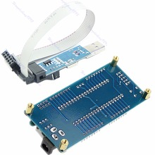 For AVR Minimum System Board ATMEGA16 ATmega32 + USB ISP USBasp Programmer For ATMEL #R179T#Drop Shipping
