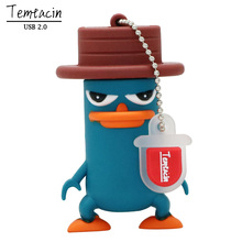 USB Flash Drive PenDrive Funny Lovely Perry The Platypus Shape Flash Memory 2.0 Pen Memory U Disk 4G 8G 16G 32G USB Drive(China)