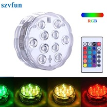 Szvfun Waterproof Pool Light Battery Operated Underwater Lights Submersible LED RGB Piscina for Wedding Party Pond Wholesale(China)