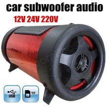 cheap max power 50W 4 inch 3 colors for option car subwoofer audio speaker bass tunnel auto 12V free shipping hot sale(China)