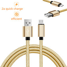 2a quick charge Metal plug 8pin/micro USB Charger adapter Cable For iPhone 5 6S 7 Plus,for samsung galaxy j5 a5 s4 s6,moto x lg